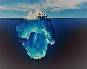 حسادت مثل یک کوه یخی است که نوک آن بیرون از آب است